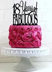 Tizennyolcadik szülinapi torta