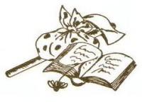 Batyu és könyv rajz