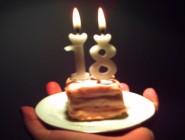 18.szülinapi torta